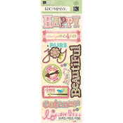 Blossom Word Adhesive Chipboard - K And Company