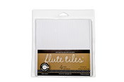 E Flute White Corrugated Tiles - Canvas Corp