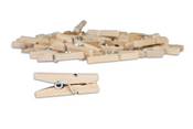 Natural Mini Clothespins - Canvas Corp