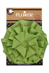 Lime Green Canvas Flower - Canvas Corp