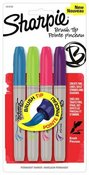 Sharpie Brights Brush Tip Marker Set, 4 Pack