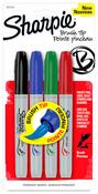 Sharpie Basics Brush Tip Marker Set, 4 Pack