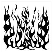 Flames 6 x 6 Stencil - The Crafters Workshop