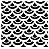 Fish Scales 6 x 6 Stencil - Crafters Workshop