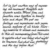 Art Is 6 x 6 Stencil - Crafters Workshop