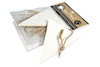 Speckled Triangle Tags & Ties - Canvas Corp 10 tags per package approx 1.5 inches  x 2.5 inches