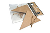 Kraft Triangle Tags & Ties - Canvas Corp 10 tags per package approx 1.5 inches  x 2.5 inches