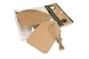 Scallop Tags & Ties - Canvas Corp 10 tags per package approx 1.5  x 2.5