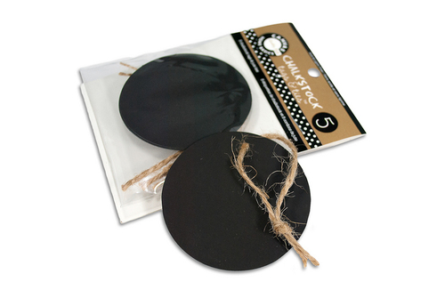 Chalkstock Round Tags & Ties - Canvas Corp