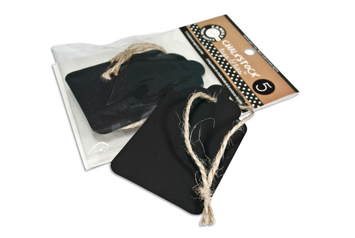 Chalkstock Scallop Tags & Ties - Canvas Corp