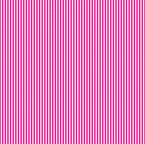 Hot Pink & White Ribbon Stripe Paper - Canvas Corp
