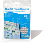Thin 3D Self Adhesive Foam Squares - Scrapbook Adhesives