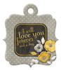 Love You Die-cut Embossed Tag - We R Memory Keepers
