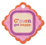 Get Happy Die-cut Embossed Tag - We R Memory Keepers
