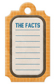 The Facts Die-cut Embossed Tag - WRMK