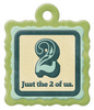 2 Of Us Die-cut Embossed Tag - We R Memory Keepers One Die-cut Tag From We R Memory Keepers  Approx. 3-1/2 x3-1/2