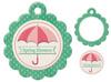 Spring Showers Die-cut Embossed Tag - We R Memory Keepers