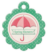 Spring Showers Die-cut Embossed Tag - We R Memory Keepers