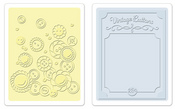 Vintage Button Set Embossing Folders - Sizzix