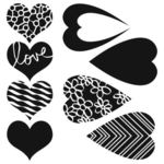 Mix & Match Hearts 6 x 6 Stencil - Crafters Workshop