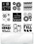 Four Season Inchie Bundle Clear Stamps