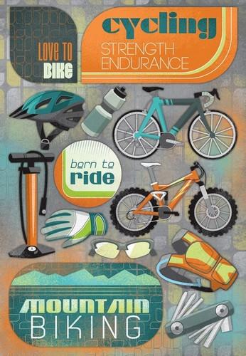 Love To Bike Stickers - Karen Foster