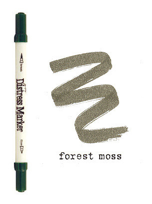 Forest Moss Dual Tip Distress Marker - Tim Holtz