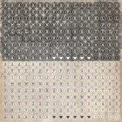 Type 12x12 Sticker Sheet - Timeless Collection - KaiserCraft
