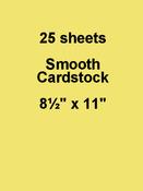 Sour Lemon 8.5 x 11 Cardstock - Bazzill Card Shoppe, 25 pack