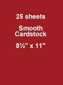 Wax Lips 8.5 x 11 Cardstock - Bazzill Card Shoppe, 25 pack