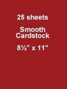 Wax Lips 8.5 x 11 Cardstock - Bazzill Card Shoppe, 25 pack