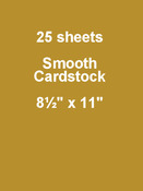 Gold Coins 8.5 x 11 Cardstock - Bazzill Card Shoppe, 25 pack