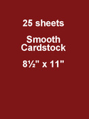 Peppermint 8.5 x 11 Cardstock - Bazzill Card Shoppe, 25 pack