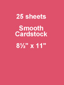 Candy Hearts 8.5 x 11 Cardstock - Bazzill Card Shoppe, 25 pack
