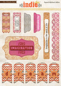 Birds Layered Chipboard Stickers - Indie Chic - My Minds Eye