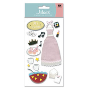 3D Prom Party Stickers