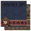 Cowboy Up  - Cowboy  Glitter Paper