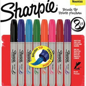 Sharpie Assorted Brush Tip Markers, Set Of 8