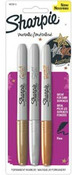 Sharpie Metallic Fine Point Permanent Markers, 3 pack