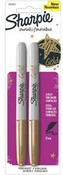 Sharppie Gold Metallic Fine Point Permanent Markers, 2/pack