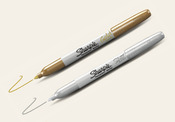 Sharpie Metallic Silver And Gold Permanent Marker Set