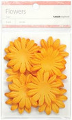 Orange 5cm Paper Flowers - KaiserCraft