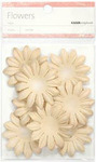 Taupe 5cm Paper Flowers - KaiserCraft