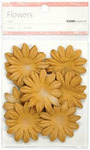 Sepia 5cm Paper Flowers - KaiserCraft