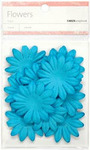 Blue 5cm Paper Flowers - KaiserCraft