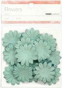 Sky Blue 3.5cm Paper Flowers - KaiserCraft