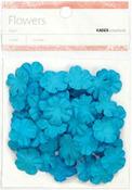 Blue 2cm Paper Flowers - KaiserCraft