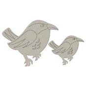 Bird Die Cut Chipboard Embellishment - FabScrap