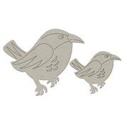 Bird Die Cut Chipboard Embellishment - FabScrap