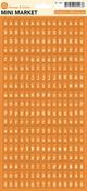 9 To 5 Orange & Creme Sticky Keys Alpha Stickers - October Afternoon